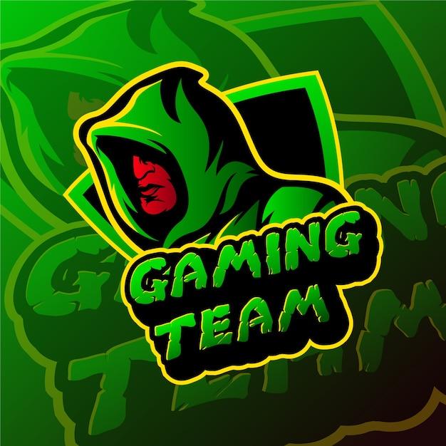Esports gaming logo skull theme Vector | Premium Download