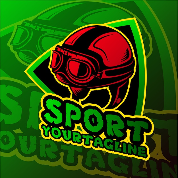 Esports gaming logo skull theme Vector | Premium Download