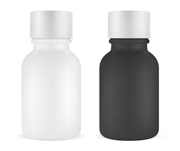Essence bottle set. face serum. cosmetic vial Premium Vector