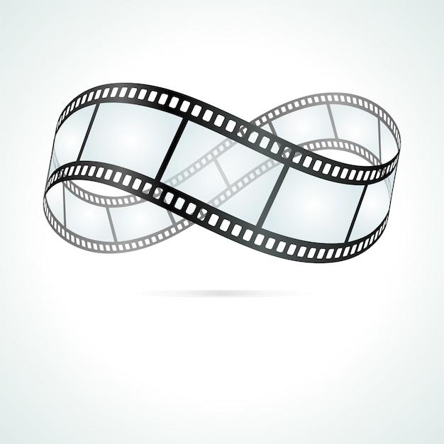 Eternity symbol from roll film illustration Premium Vector