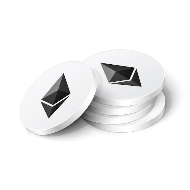 Ethereum cryptocurrency tokens Premium Vector