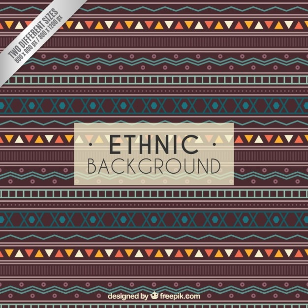 Ethnic background in geometric style Free Vector