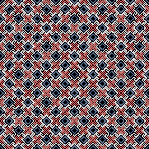 Ethnic color seamless geometric pattern Premium Vector