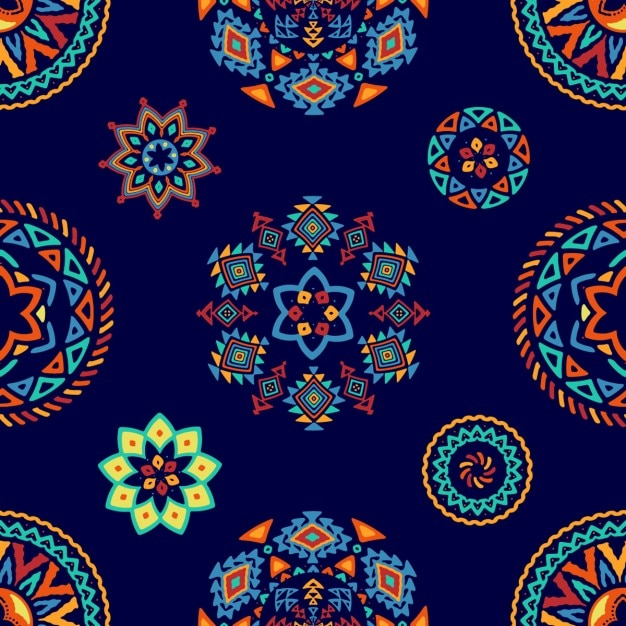 Ethnic decorative pattern of abstract forms Free Vector