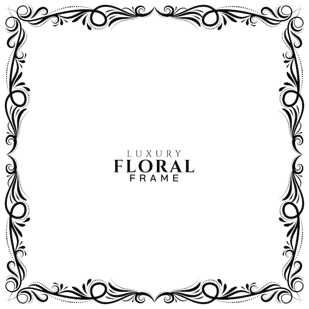 Ethnic floral frame design background Free Vector