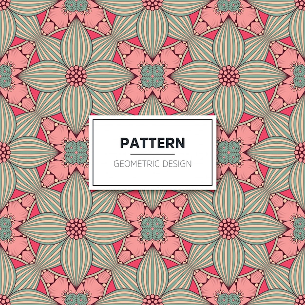 Ethnic floral seamless pattern. abstract ornamental pattern Premium Vector