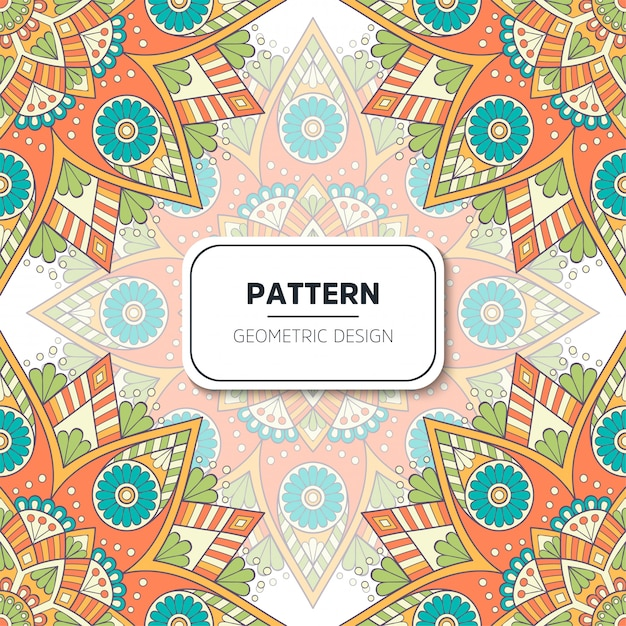 Ethnic floral seamless pattern. abstract ornamental pattern Free Vector