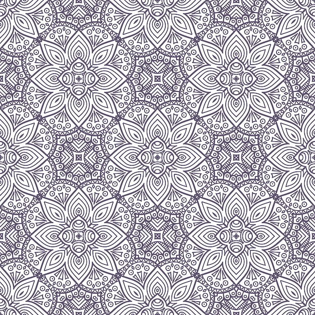 free vector ethnic floral seamless pattern with mandalas vector ethnic floral seamless pattern