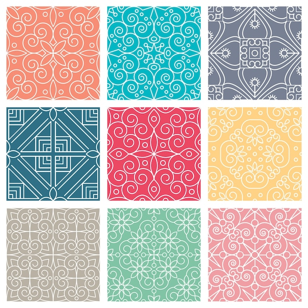 Ethnic floral seamless pattern Free Vector