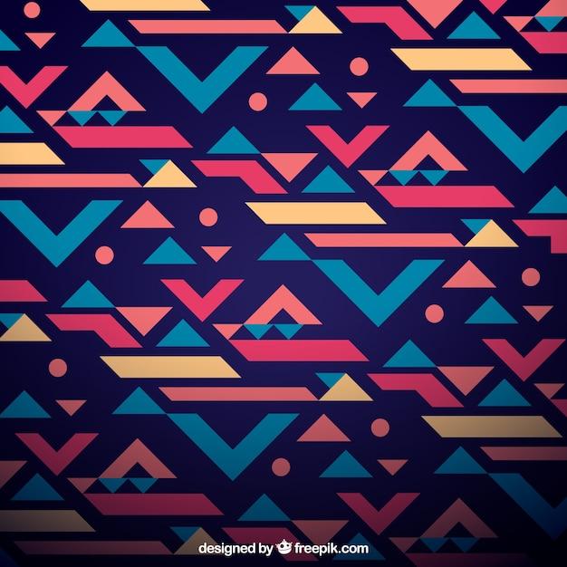 Ethnic geometric background Free Vector