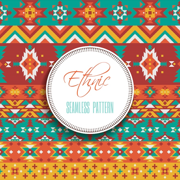 Ethnic geometric seamless pattern Free Vector