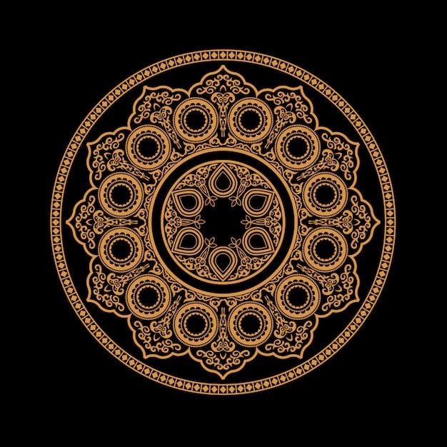 Ethnic henna mandala - round ornament pattern Premium Vector