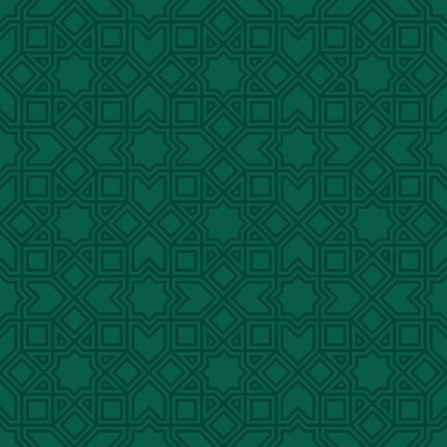Ethnic line islamic seamless pattern Premium Vector