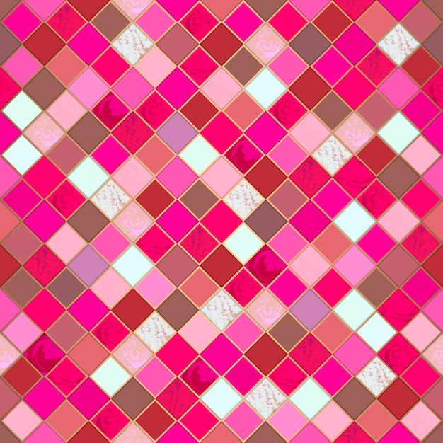 Ethnic mosaic colorful seamless pattern. Premium Vector
