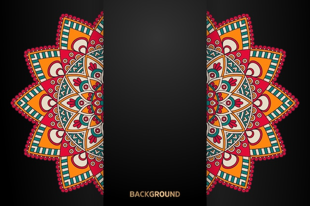 Ethnic motive mandala background Free Vector