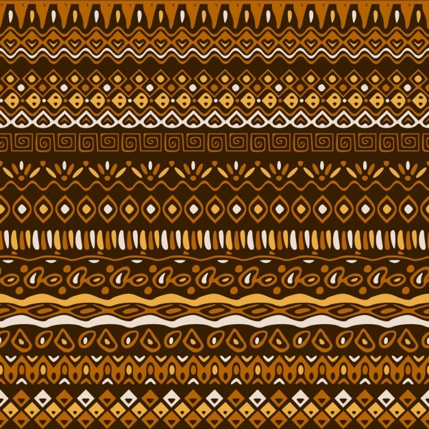 Ethnic pattern in brown tones Free Vector