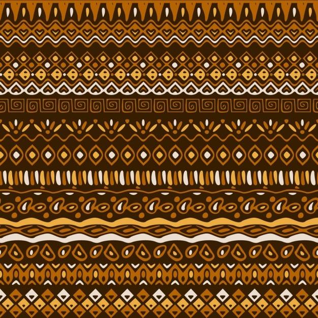갈색 톤의 에스닉 패턴 무료 벡터