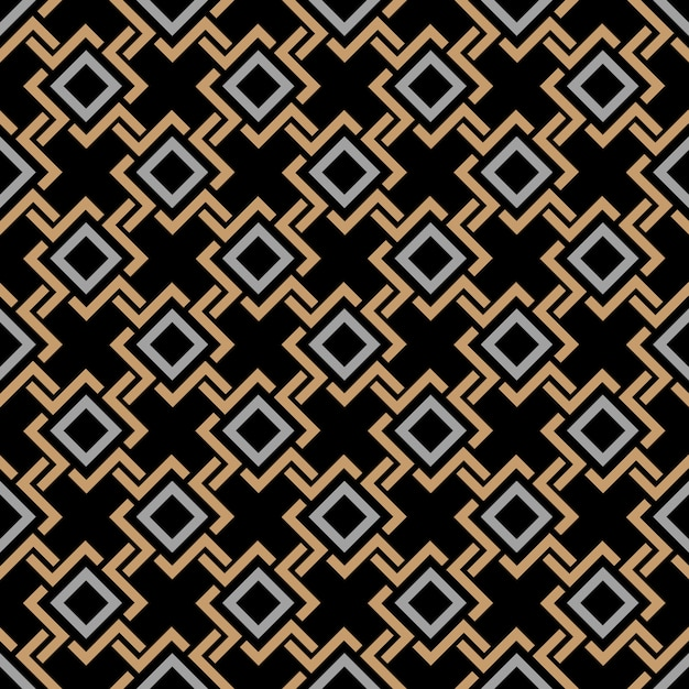 Ethnic seamless geometric pattern in celtic style Premium Vector