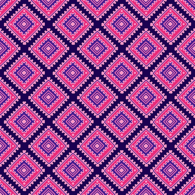 Ethnic seamless pattern. tribal line print in african, mexican, indian style Premium Vector