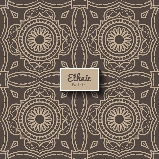 エスニックスタイルの装飾的なパターン、イスラム教、アラビア語、インド、オスマン帝国のモチーフ Premiumベクター