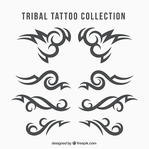Ethnic tribal tattoo collection Free Vector
