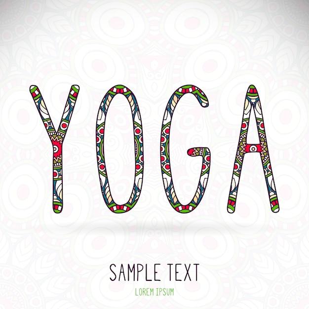 Ethnic yoga lettering