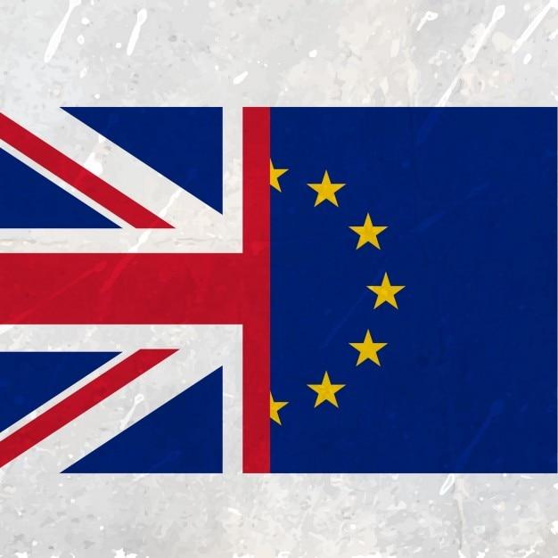 欧州連合(eu)と英国旗 無料ベクター