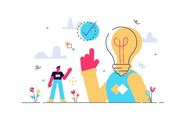 Эврика или момент aha как идея, решение и открытие Premium векторы