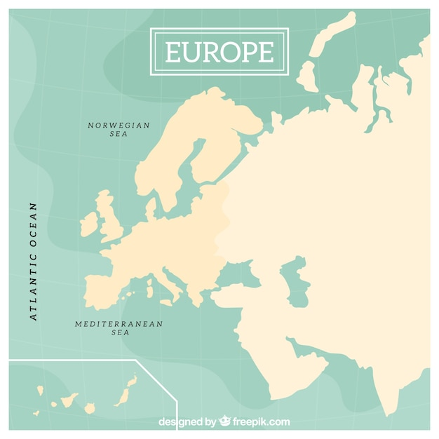 Europe map design Vector Free Download