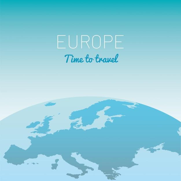 Europe map globe vector illustration Premium Vector