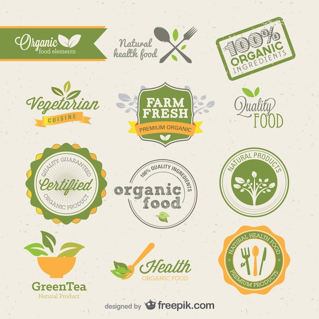 european beautiful labels    vector Free Vector