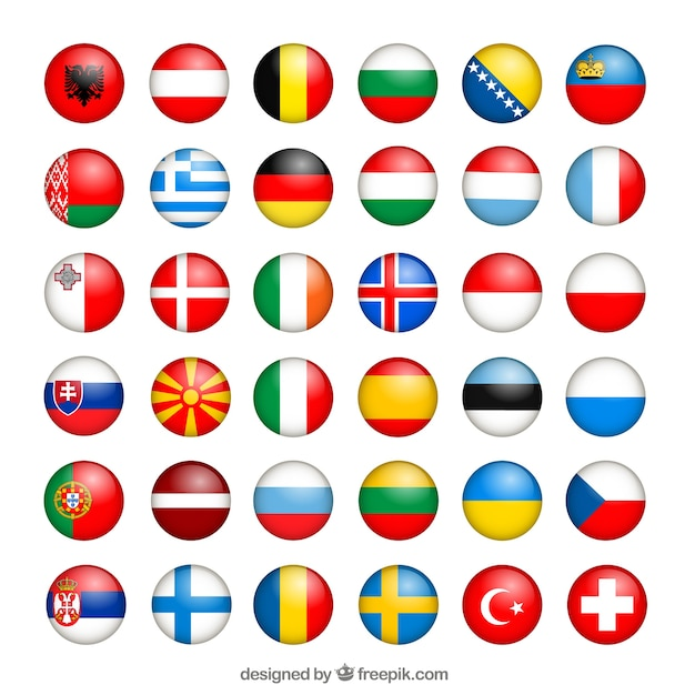 european flags collection vector free download