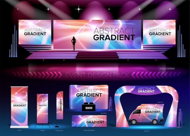 Event design pack Premium Vector