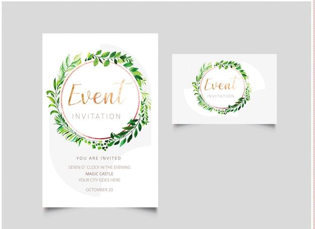 Event Invitation Card Vector Premium Download