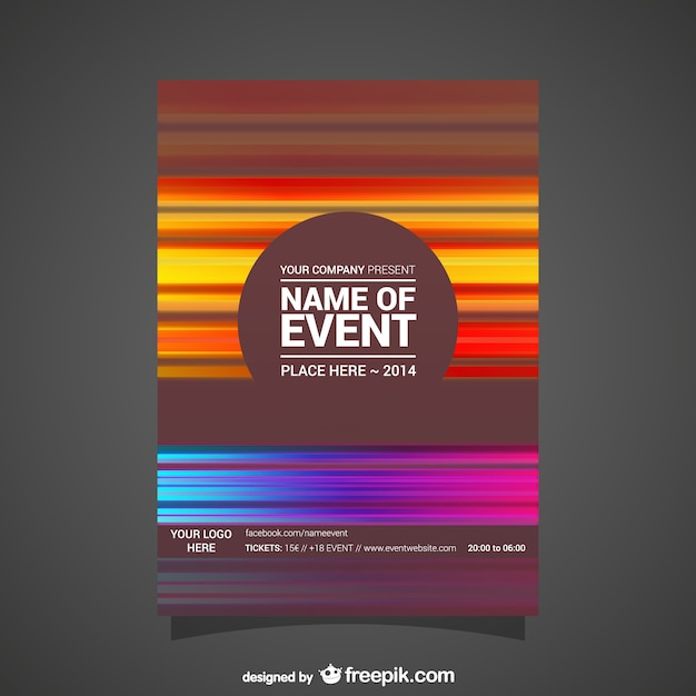 Event Poster Abstract Editable Design Vector Free Download