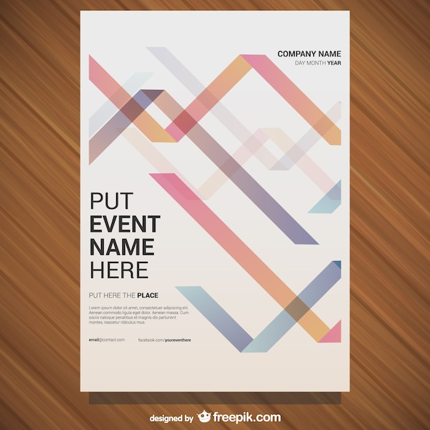 event poster template vector free download