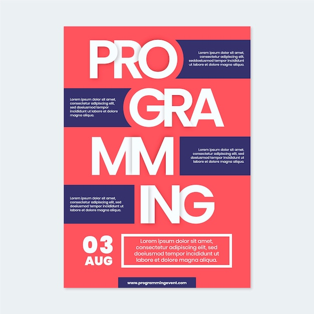 Modello di poster per la programmazione di eventi Vettore gratuito