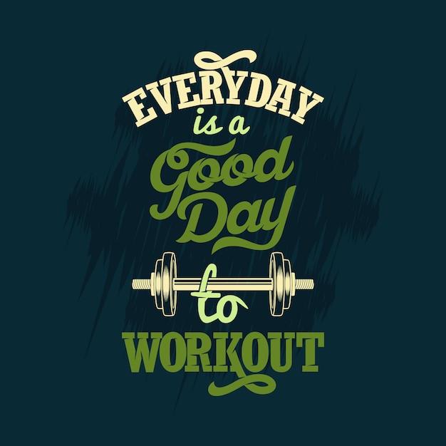 毎日が運動に適した日です。または Premiumベクター