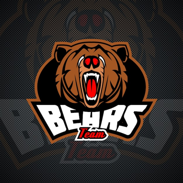 Other Team Sports: Evil And Dangerous Bear, Logo Template For Sports Or Other