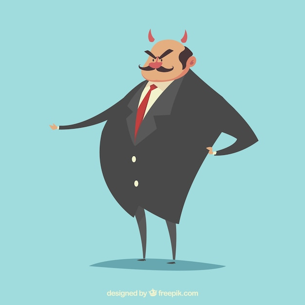 Evil boss character Free Vector