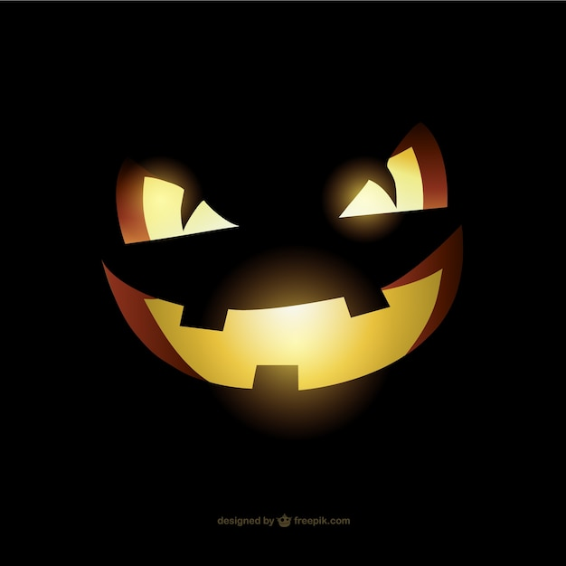 Evil Halloween pumpkin face