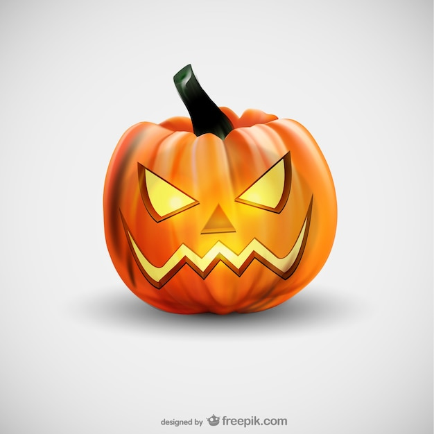 evil halloween pumpkin free vector - Download Halloween Pictures Free