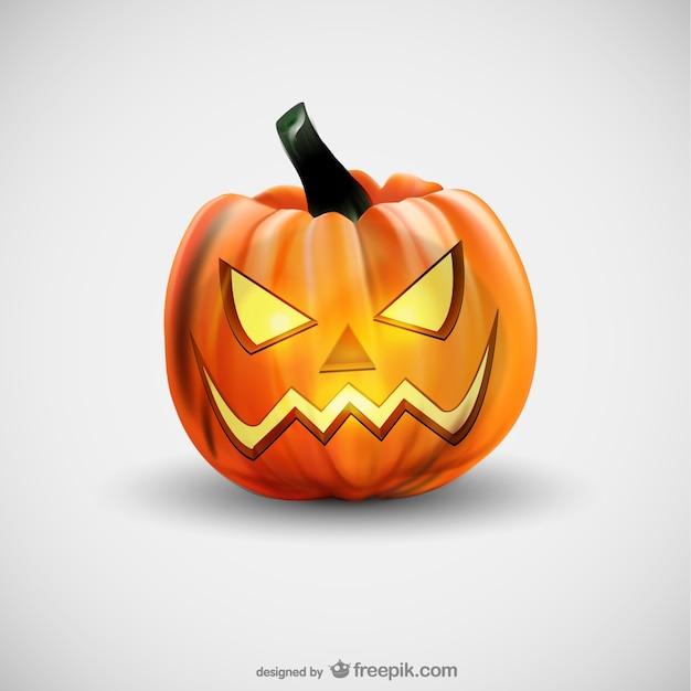 Evil Halloween Pumpkin Vector Free Download