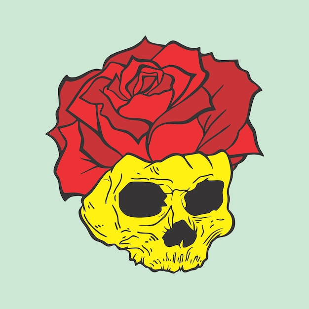 Evil rose Premium Vector