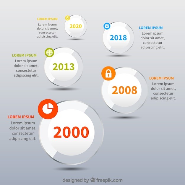 3f0a419741d1 Evolution of the company with flat design Free Vector
