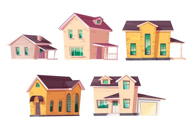 Эволюция дома архитектура жилья прогресс прогресс Бесплатные векторы