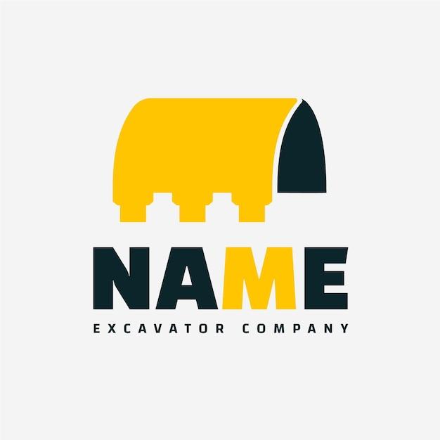 Excavator logo template Premium Vector