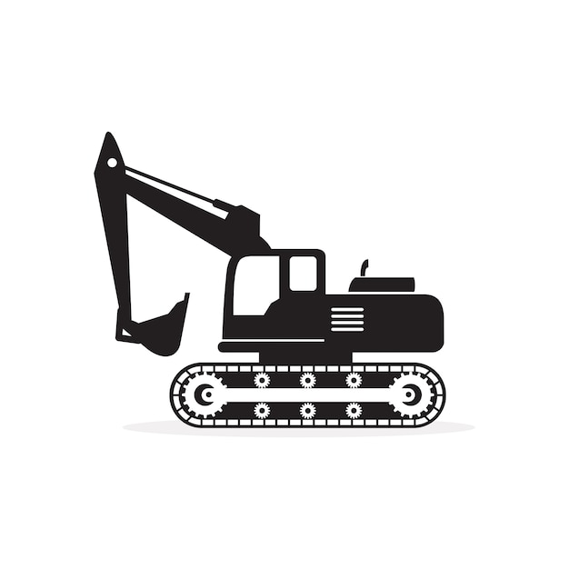 Excavator silhouette icon vector Vector   Premium Download