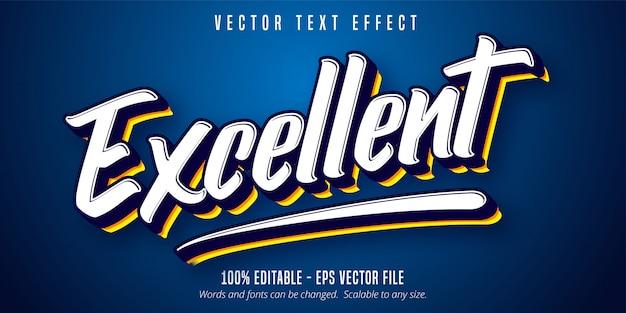 Excellent text, sport style editable text effect Premium Vector