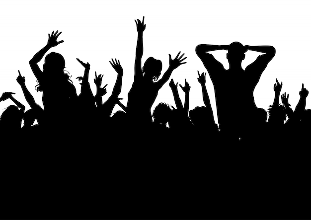 Excited party audience Free Vector